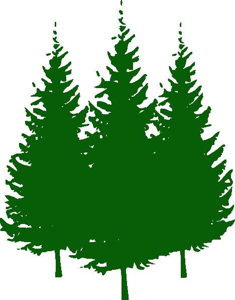 Pine Trees clip art - vector clip art online, royalty free ...