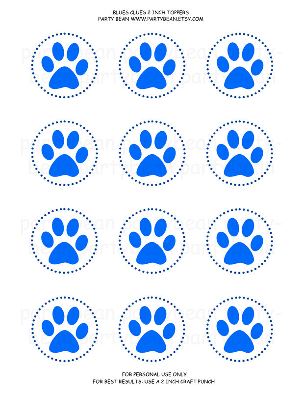 Pix For > Blues Clues Paw Print Printable - Cliparts.co