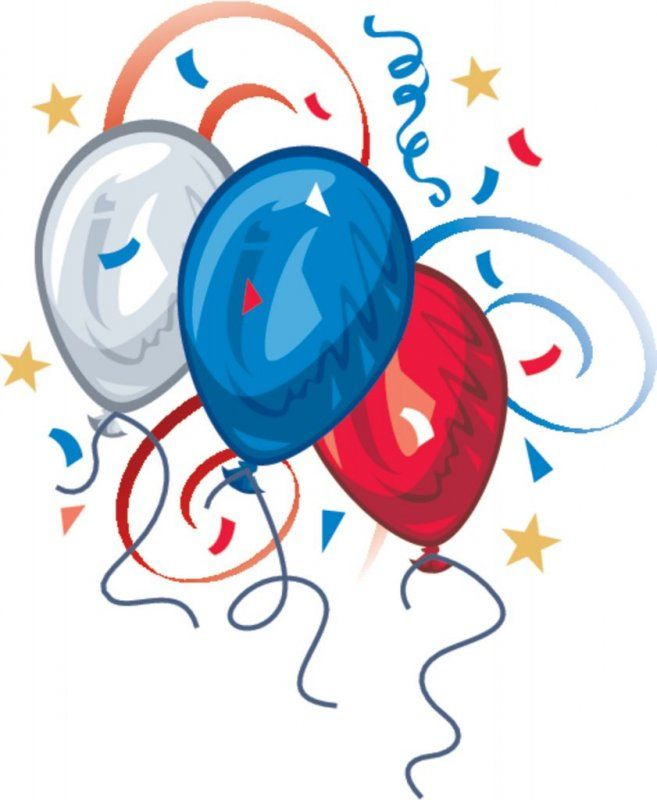 Free Balloon Clip Art Red White Blue Balloons