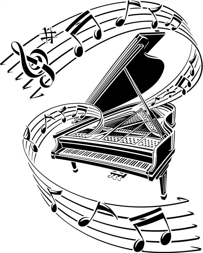 Piano Keys Clip Art Vector Online Royalty Free Public