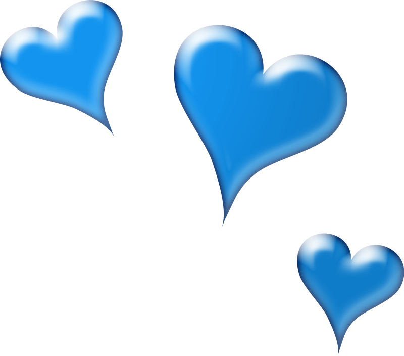 Hearts A image - vector clip art online, royalty free & public domain