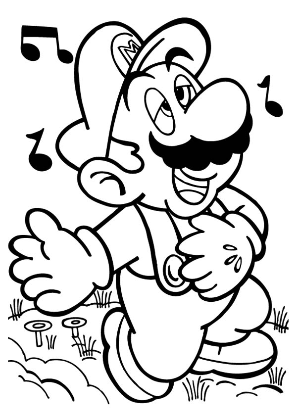 mario brothers coloring pages search