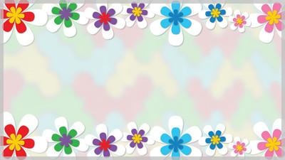 Spring Flower Border Still Background Choice Slides For Slide Cliparts Co