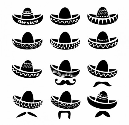 sombrero vector cliparts co mustache clip art printables moustache clipart printables