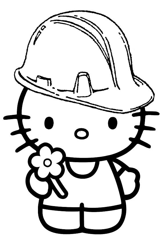 Hello Kitty Cheerleader Coloring Pages : Hello kitty cheerleader vector cliparts