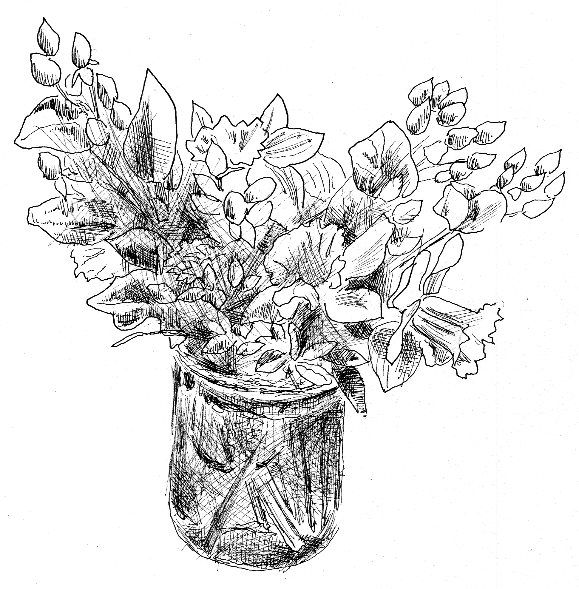 Drawing Of Spring Flowers - Cliparts.co
