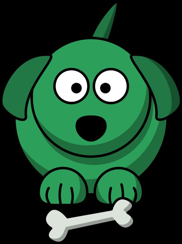 green dog clipart - photo #1