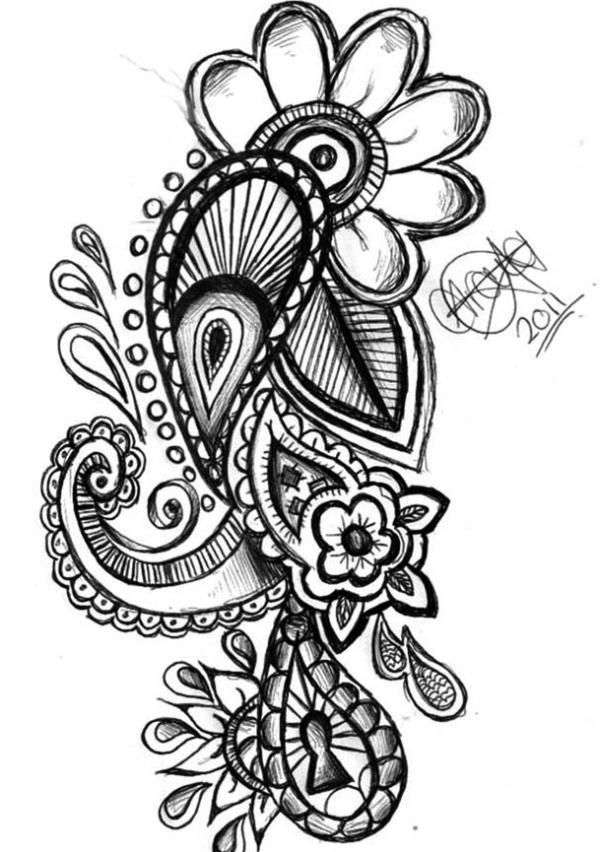 Paisley Tattoo Design. thinking of adding something similar to my ...