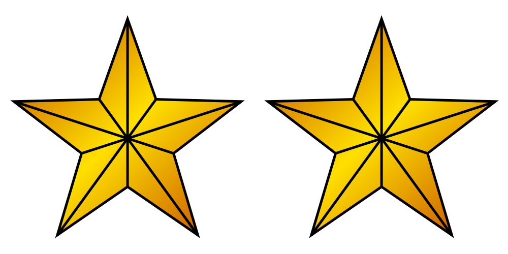 File:2 Gold Stars.svg - Wikimedia Commons