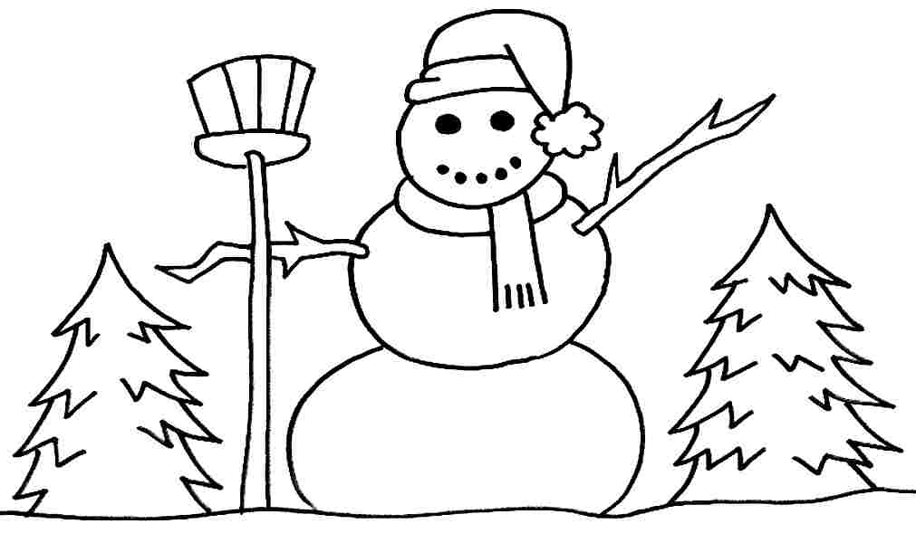 winter easy coloring pages - photo#19