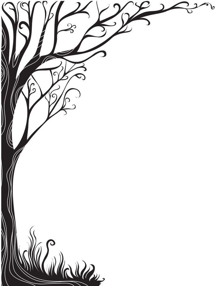 clipart tree branch borders - photo #48