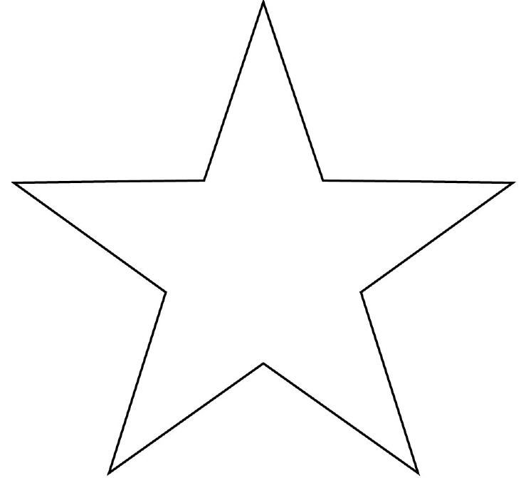 Impeccable image inside large star template printable