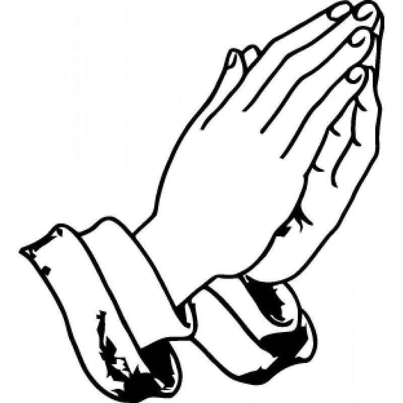 Praying Hands Together Decal Cliparts Co