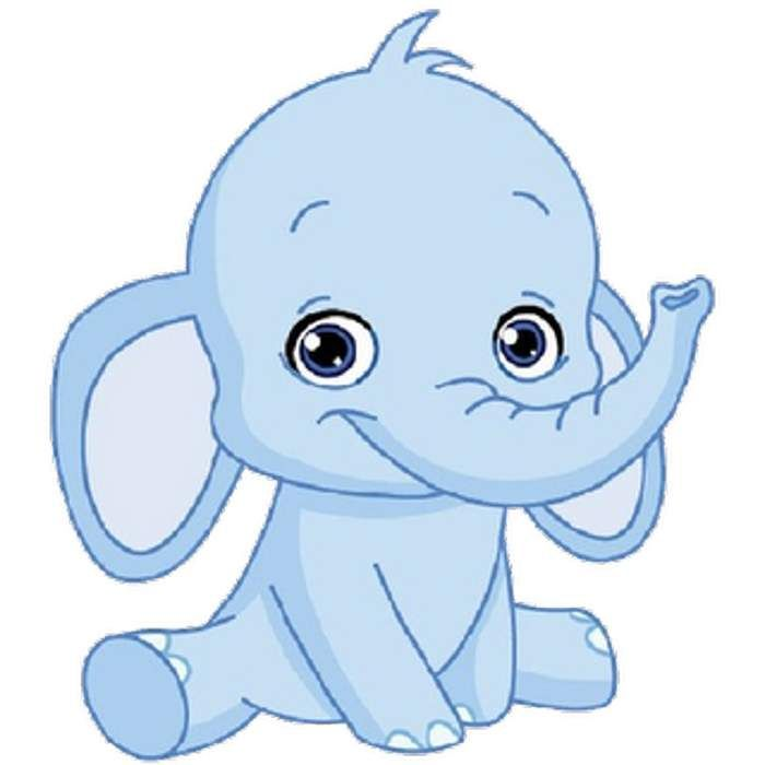 Baby Blue Elephant Cartoon Images