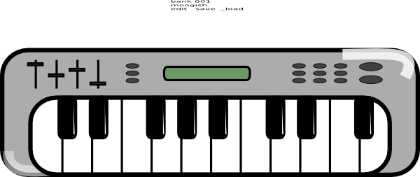 electronic keyboard clipart rh worldartsme com keyboard clip art black and white clipart keyboard