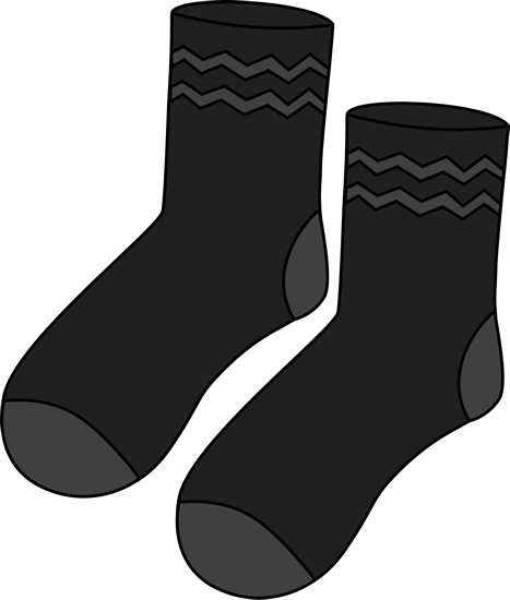 Pair of Black Socks Clip Art - Pair of Black Socks Image
