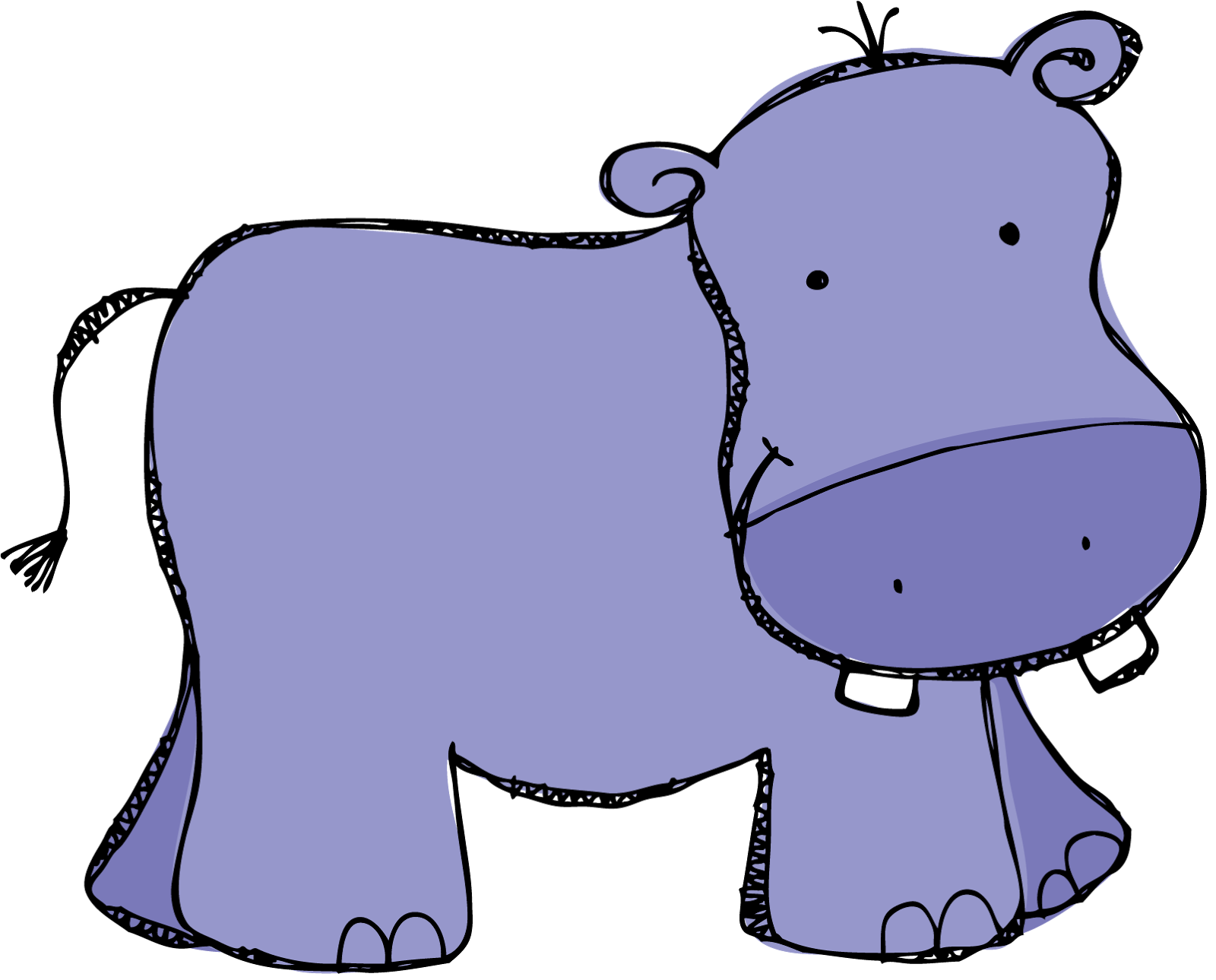 baby hippo clipart - photo #7