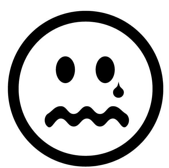 Sad Face With Tear - C...