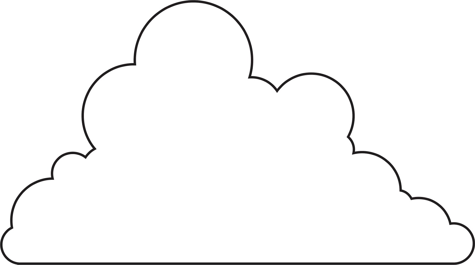 printable cloud template cliparts co