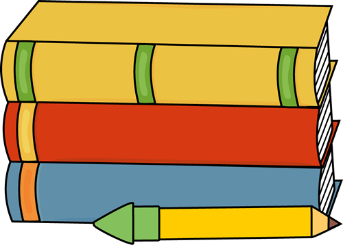 Books and Pencil Clip Art - Books and Pencil Image