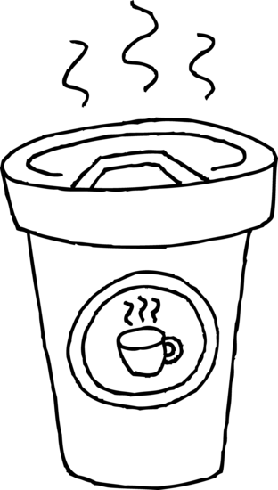 Pictures of hot coffee for Hot chocolate mug coloring page