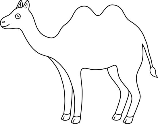 Line Drawing Of Desert Animals : Camel clipart free cliparts