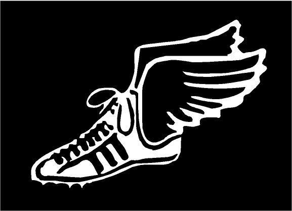 Running Shoe With Wings Symbol Images & Pictures - Becuo