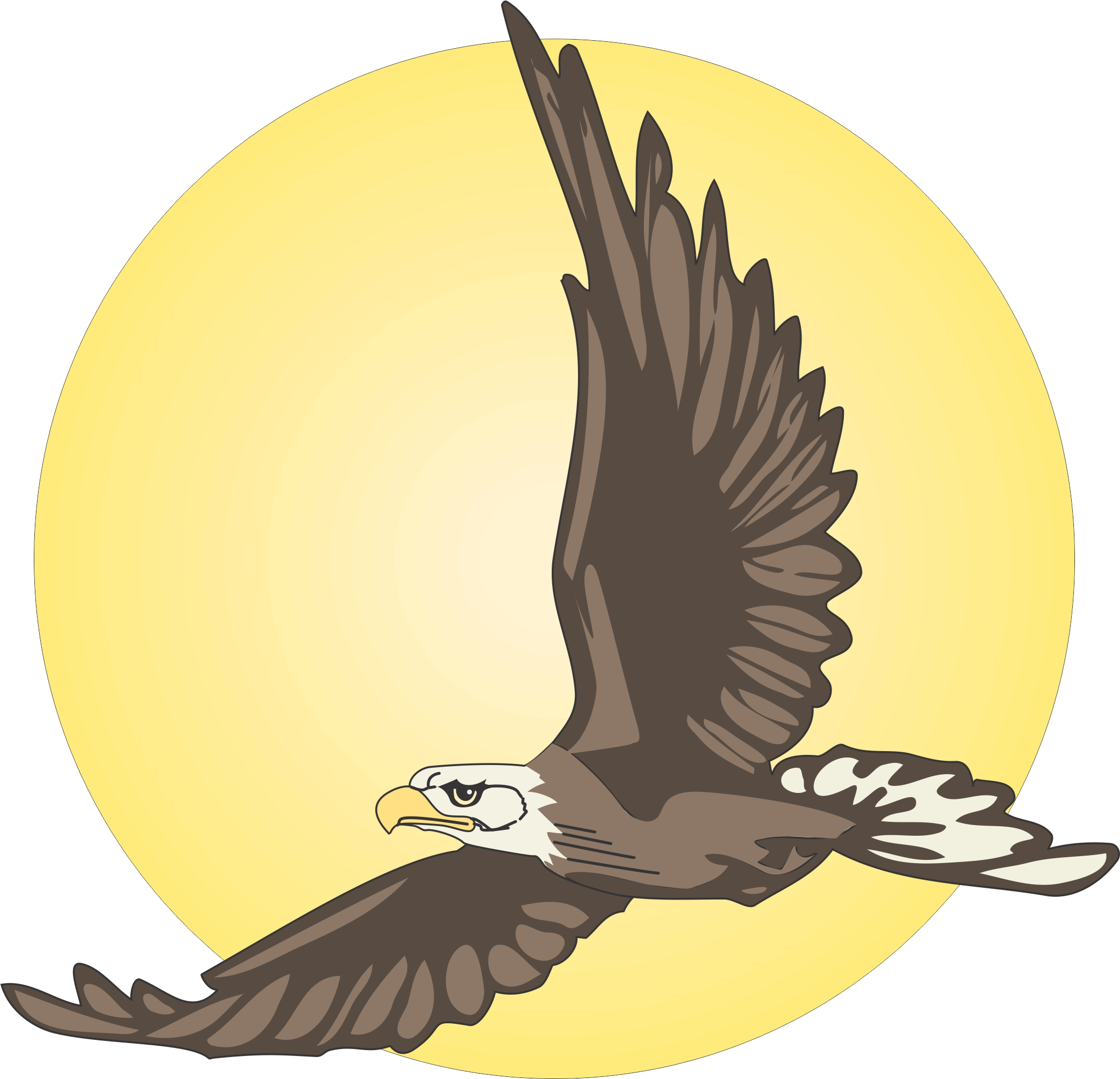 flying eagle clip art - photo #16
