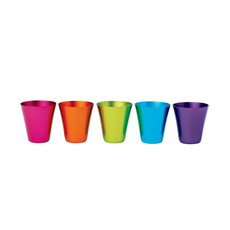 Colored Aluminum Glasses