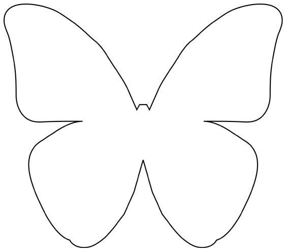 Butterfly outline template clipartsco for Butterfly template pdf