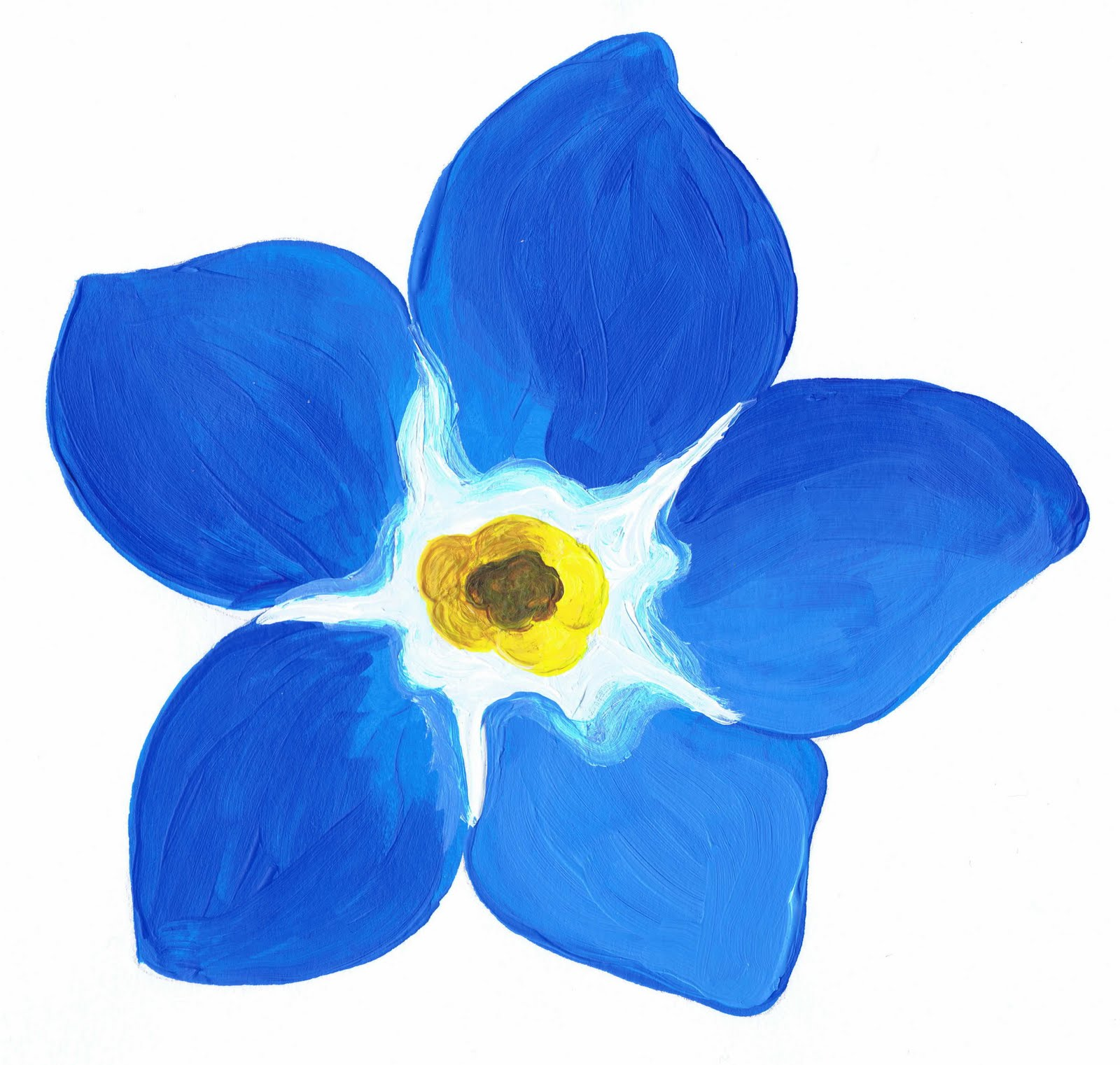 clip art forget me not flower - photo #20