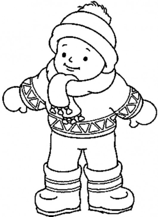 coloring pages of winter clothes - winter clothes pictures for kids