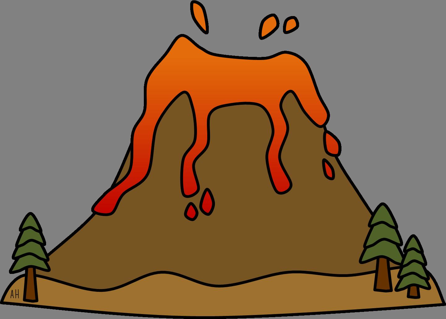 free clipart volcano erupting - photo #6
