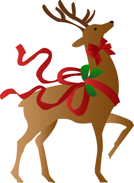 Christmas reindeer clipart - photo#2