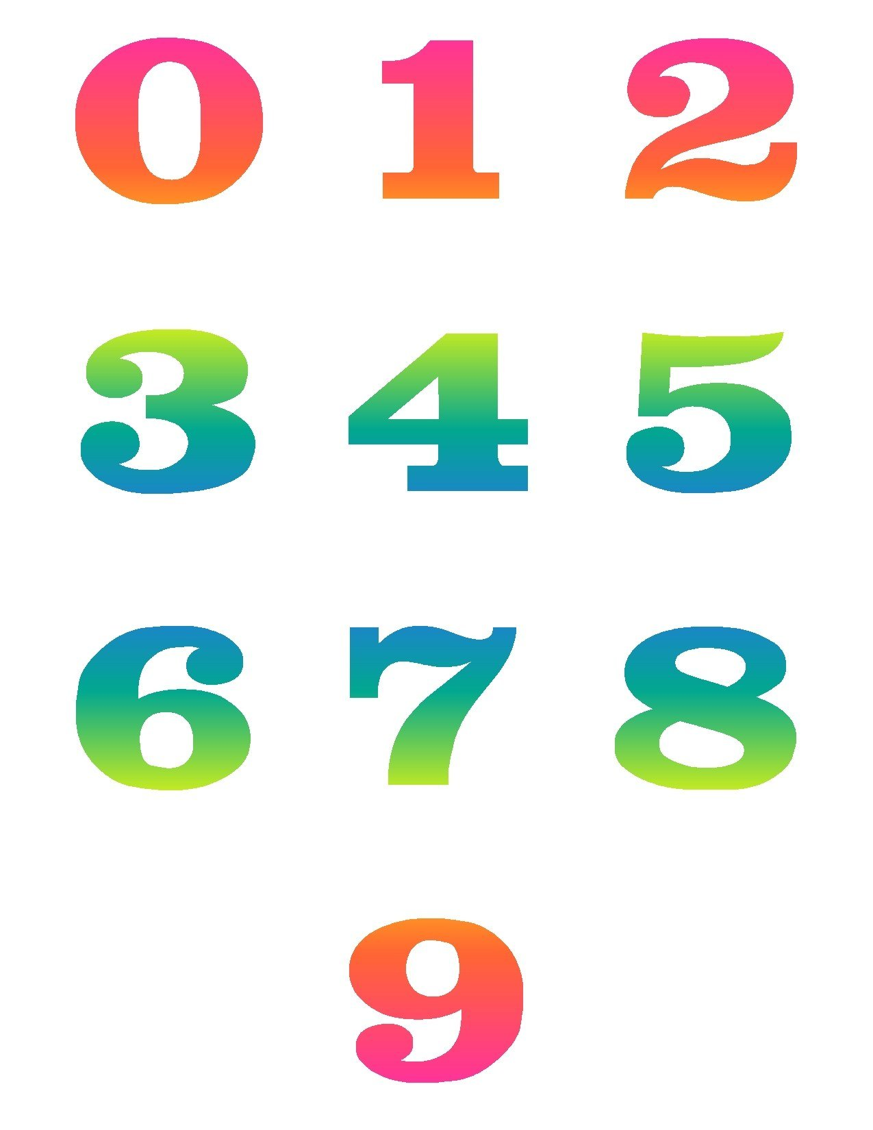 Number clip art free clipartsco for Free clipart numbers