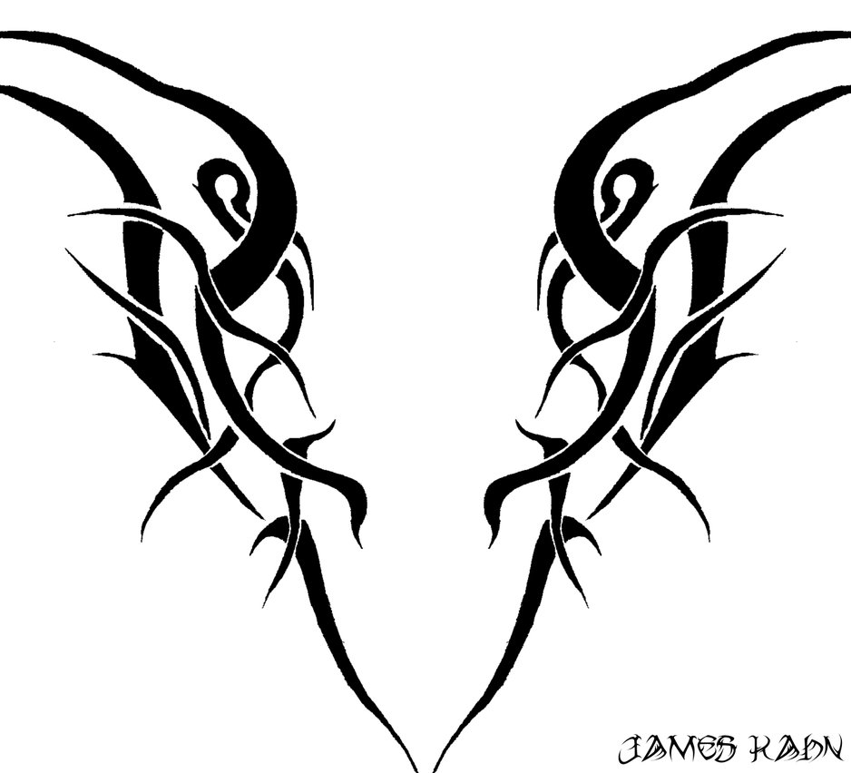 tribal design 5 the raptor by electricitygonehuman on