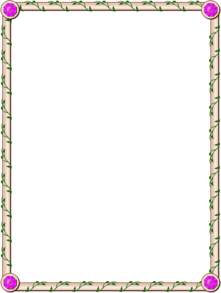 Floral Page Borders - Cliparts.co