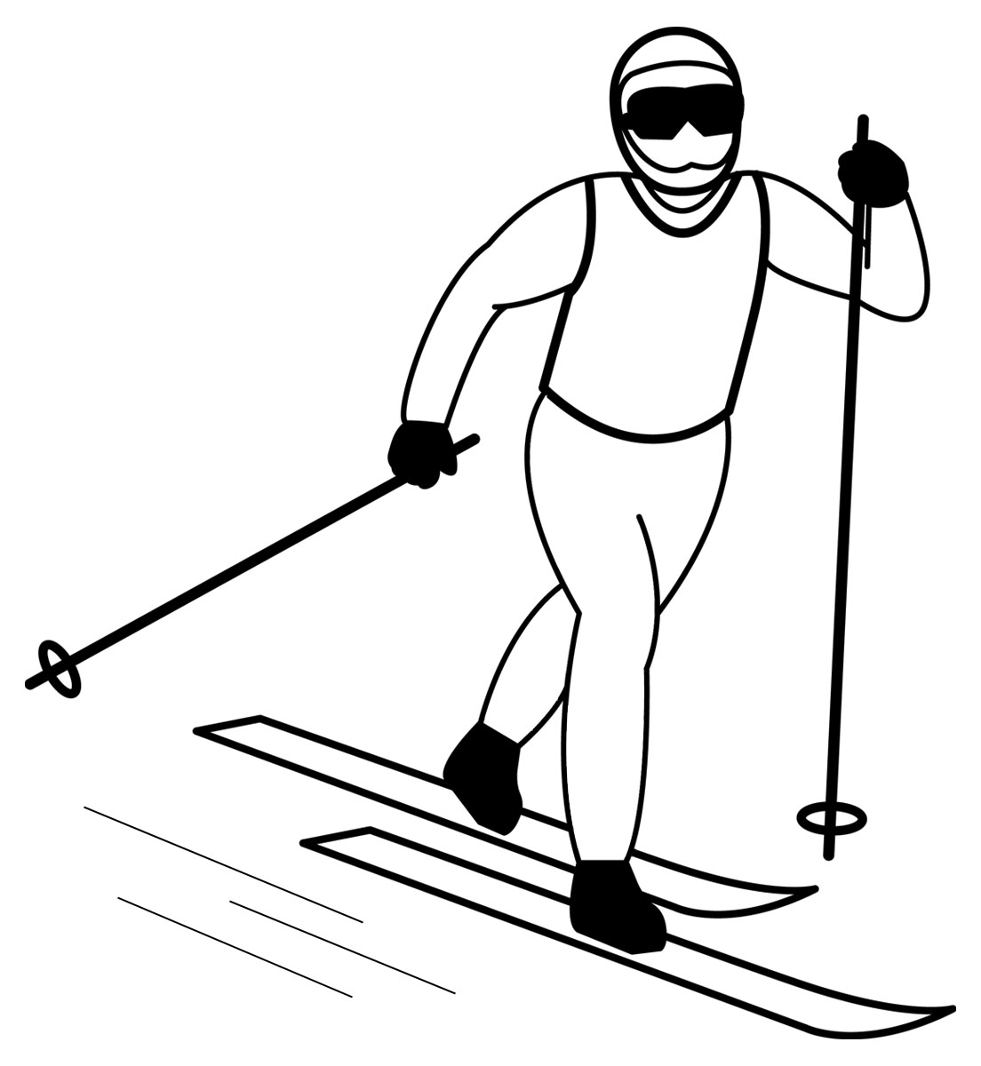cross country skiing coloring pages - photo#22