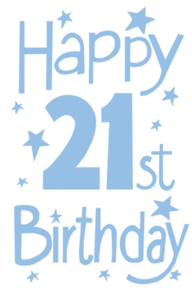 Happy 21st Birthday Graphics - Cliparts.co