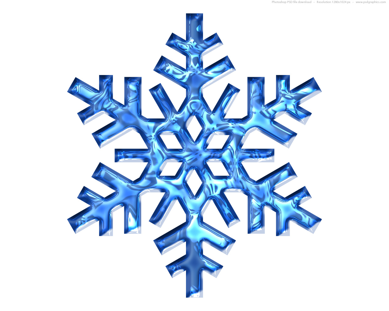 Snowflake transparent background cliparts