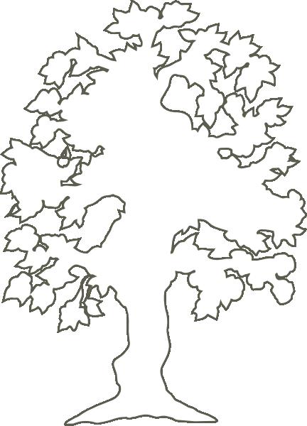 Tree Outline Clip Art - Cliparts.co