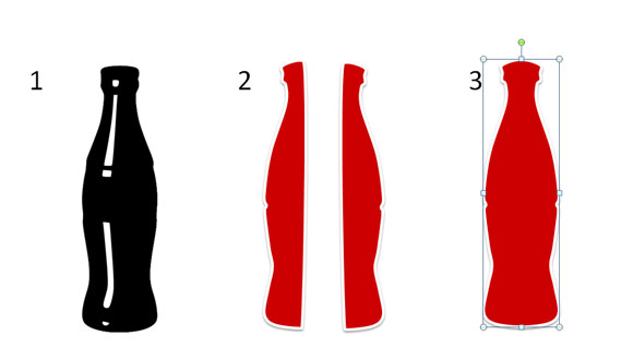 How to Draw a Coca Cola Bottle in PowerPoint 2010 using Shapes ...