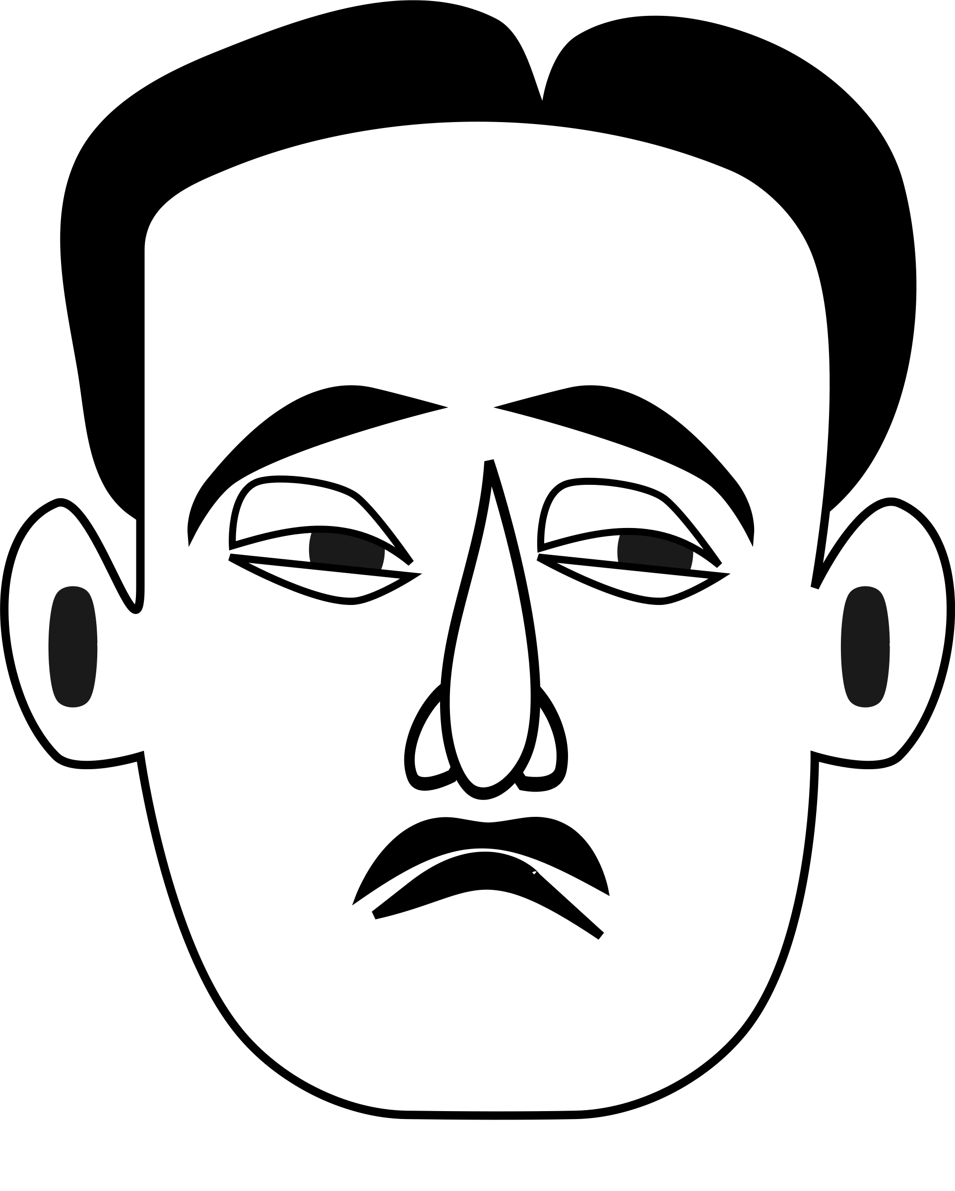 Line Drawing Angry Face : Sad face clip art black and white cliparts