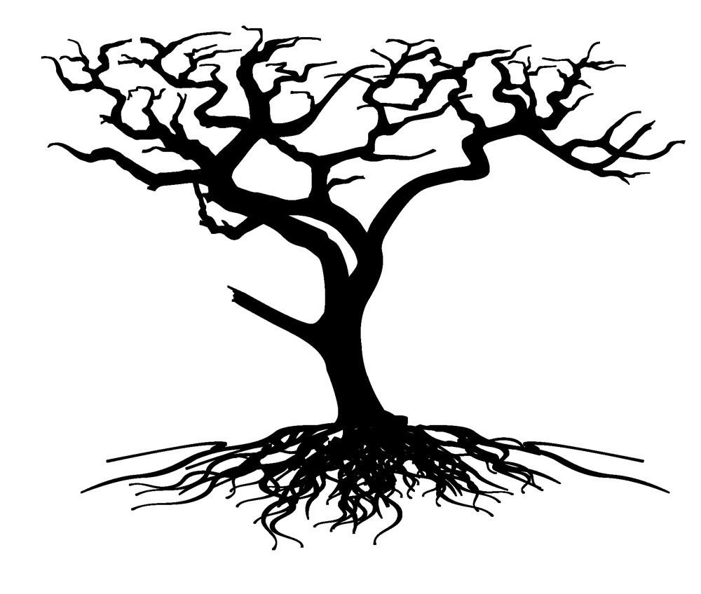Tree with Roots Clip Art