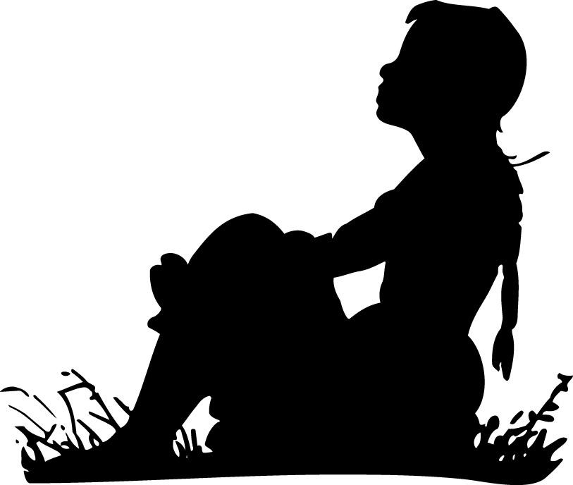 clip art girl silhouette - photo #2