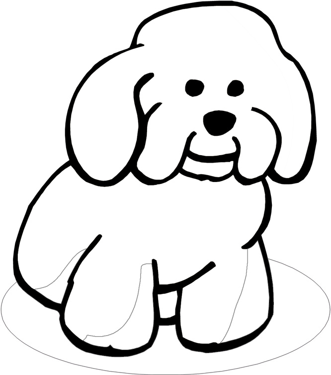 Dog Coloring Book Page - Coloring Home | 754x666