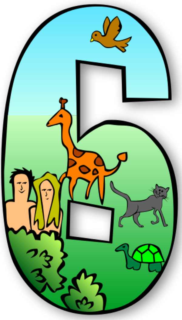 Creation Days Numbers 5 - vector Clip Art
