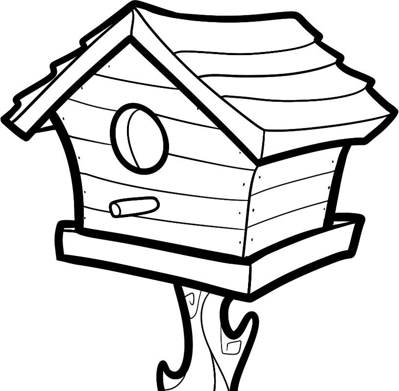 Birdhouse pictures for Big bird coloring pages printable free