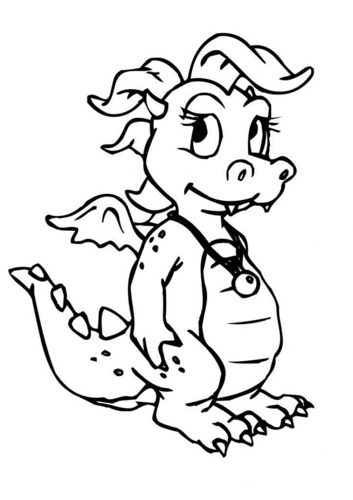 cute baby dragon coloring pages