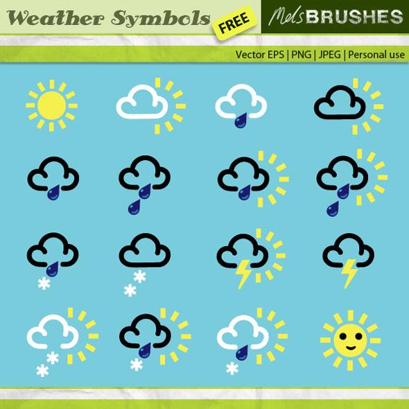Weather symbols wind